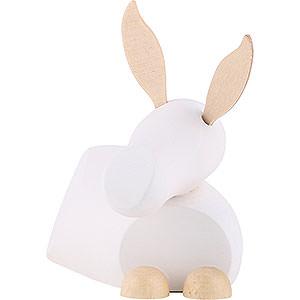 Kleine Figuren & Miniaturen Krippen Esel - modern weiß/natur - groß - 7 cm