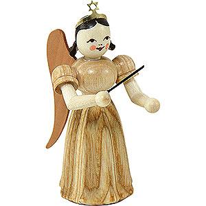 Weihnachtsengel Faltenlangrockengel (Blank) Faltenlangrockengel Dirigent, natur - 6,6 cm