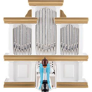 Weihnachtsengel Faltenlangrockengel farbig (Blank) Faltenlangrockengel an der Orgel, farbig - 15,5 cm