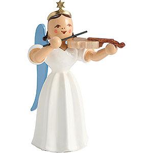 Weihnachtsengel Faltenlangrockengel farbig (Blank) Faltenlangrockengel mit Violine, farbig - 6,6 cm