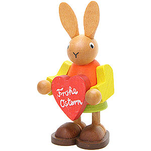 Small Figures & Ornaments Animals Rabbits Female Bunny with Heart - 8,5 cm / 3.3 inch