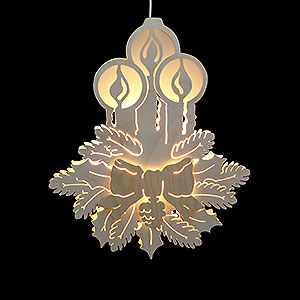 Lichterwelt Fensterbilder Fensterbild Drei Kerzen - Durchmesser 30,5 cm