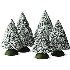 Weihnachtsengel Günter Reichel Dekoration Fichte mit Schnee, 5 Stück - 8 cm