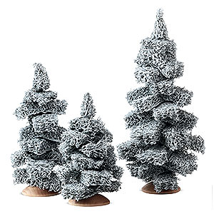 Angels Reichel decoration Fir Tree with Snow without Trunk, Set of Three - 13 cm / 5.1 inch