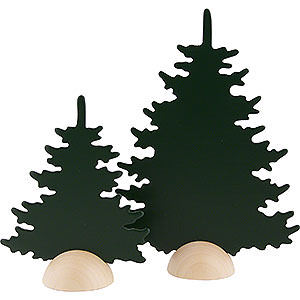 Small Figures & Ornaments Näumanns Wicht Fir Trees - 2 Pieces - Green - 20 cm / 8 inch