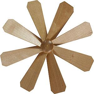 Weihnachtspyramiden Zubehör & Kerzen Flügelrad für Weihnachtspyramide - Durchmesser = 21,5 cm