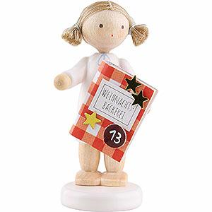 Weihnachtsengel Flade Flachshaarengel Flachshaarengel mit Backbuch (13)- 5 cm