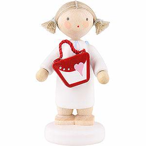 Weihnachtsengel Flade Flachshaarengel Flachshaarengel mit Handtasche - 5 cm