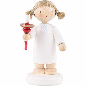Weihnachtsengel Flade Flachshaarengel Flachshaarengel mit Kerze - 5 cm