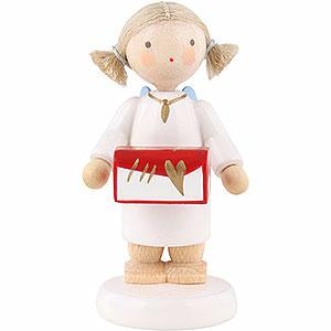 Weihnachtsengel Flade Flachshaarengel Flachshaarengel mit Schmuckschatulle - 5 cm