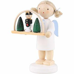Weihnachtsengel Flade Flachshaarengel Flachshaarengel mit Schwibbogen 5 cm