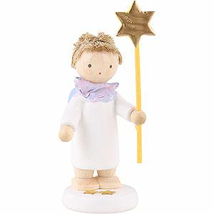 Weihnachtsengel Flade Flachshaarengel Flachshaarengel mit Stern 2015 - 5 cm