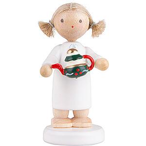 Weihnachtsengel Flade Flachshaarengel Flachshaarengel mit Teekanne - 5 cm