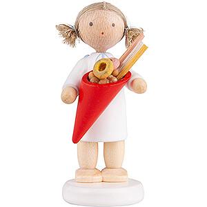 Weihnachtsengel Flade Flachshaarengel Flachshaarengel mit Zuckerzeug - 5 cm