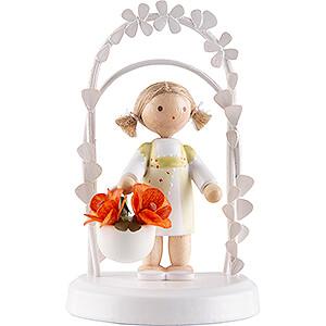 Geschenkideen Geburtstag Flachshaarkinder Geburtstagskind mit Gänseblümchen - 7,5 cm