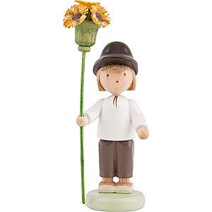 Kleine Figuren & Miniaturen Flade Flachshaarkinder Flachshaarkinder Junge mit Blütenzepter - 5 cm