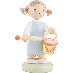 Kleine Figuren & Miniaturen Flade Flachshaarkinder Flachshaarkinder Mädchen mit Sandspielzeug - 5 cm
