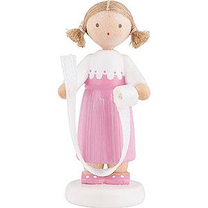 Kleine Figuren & Miniaturen Flade Flachshaarkinder Flachshaarkinder Mädchen mit Schmuckband - 5 cm