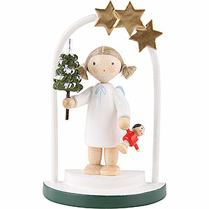 Angels Flade Flax Haired Angels Flax Haired Angel in a Star Arch - 5 cm / 2 inch