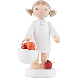 Angels Flade Flax Haired Angels Flax Haired Angel with Apple Basket - 5 cm / 2 inch