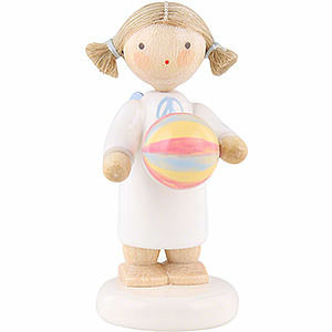 Angels Flade Flax Haired Angels Flax Haired Angel with Ball - 5 cm / 2 inch