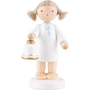 Angels Flade Flax Haired Angels Flax Haired Angel with Bell - 5 cm / 2 inch
