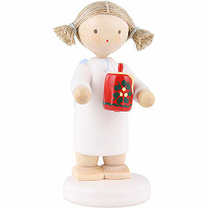 Angels Flade Flax Haired Angels Flax Haired Angel with Christmas Candle - 5 cm / 2 inch