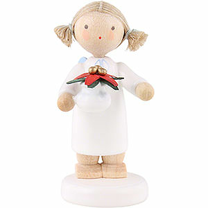 Angels Flade Flax Haired Angels Flax Haired Angel with Christmas Star - 5 cm / 2 inch
