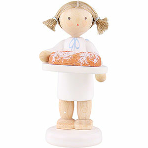 Angels Flade Flax Haired Angels Flax Haired Angel with Christmas Stollen - 5 cm / 2 inch