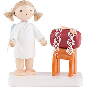 Angels Flade Flax Haired Angels Flax Haired Angel with Clopper Sack - 5 cm / 2 inch