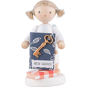 Angels Flade Flax Haired Angels Flax Haired Angel with Diary - 5 cm / 2 inch