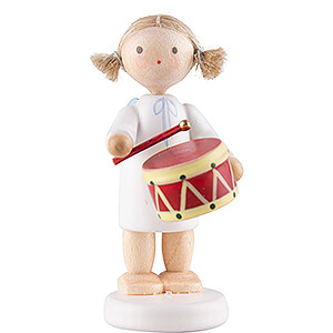 Angels Flade Flax Haired Angels Flax Haired Angel with Drum - 5 cm / 2 inch
