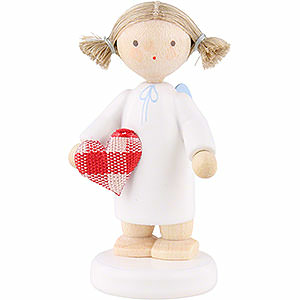 Angels Flade Flax Haired Angels Flax Haired Angel with Fabric Heart