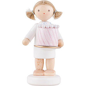 Angels Flade Flax Haired Angels Flax Haired Angel with Feast Cake - 5 cm / 2 inch