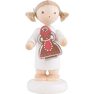 Angels Flade Flax Haired Angels Flax Haired Angel with Gingerbread Woman - 5 cm / 2 inch