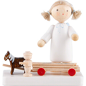 Angels Flade Flax Haired Angels Flax Haired Angel with Horses and Cart - 5 cm / 2 inch