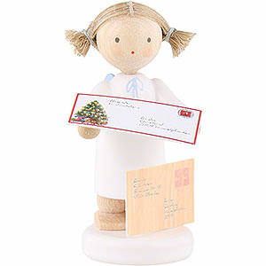Angels Flade Flax Haired Angels Flax Haired Angel with Letter to Christ Child - 5 cm / 2 inch