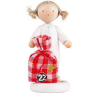 Angels Flade Flax Haired Angels Flax Haired Angel with Little Sack (22) - 5 cm / 2 inch