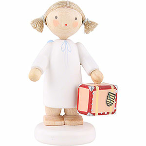 Angels Flade Flax Haired Angels Flax Haired Angel with Little Suitcase - 5 cm / 2 inch
