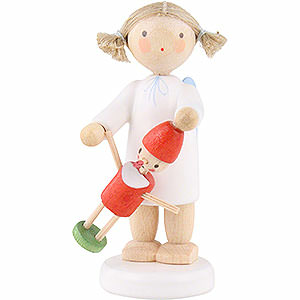 Angels Flade Flax Haired Angels Flax Haired Angel with Pinocchio - 5 cm / 2 inch