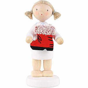 Angels Flade Flax Haired Angels Flax Haired Angel with Santa's Boot - 5 cm / 2 inch
