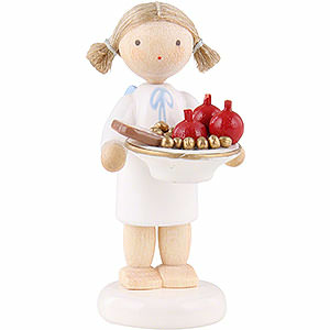 Angels Flade Flax Haired Angels Flax Haired Angel with St. Nick Plate - 5 cm / 2 inch