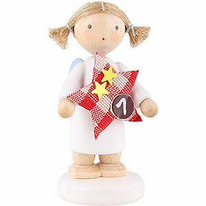 Angels Flade Flax Haired Angels Flax Haired Angel with Star (1) - 5 cm / 2 inch