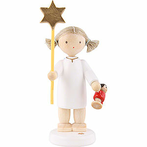 Angels Flade Flax Haired Angels Flax Haired Angel with Star and Doll 2015 - 5 cm / 2 inch