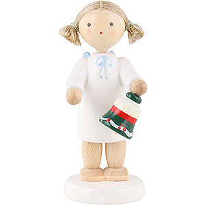 Angels Flade Flax Haired Angels Flax Haired Angel with Table Bell - 5 cm / 2 inch