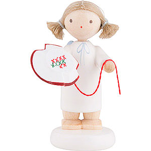 Angels Flade Flax Haired Angels Flax Haired Angel with Tambour Frame - 5 cm / 2 inch
