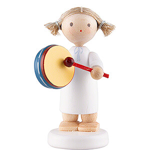 Angels Flade Flax Haired Angels Flax Haired Angel with Tambourine - 5 cm / 2 inch
