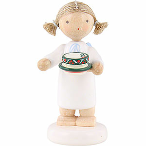 Angels Flade Flax Haired Angels Flax Haired Angel with Tea Cup - 5 cm / 2 inch