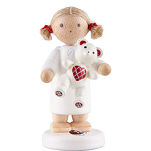 Angels Flade Flax Haired Angels Flax Haired Angel with Teddy - 5 cm / 2 inch