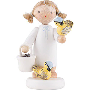 Angels Flade Flax Haired Angels Flax Haired Angel with Titmice - 5 cm / 2 inch